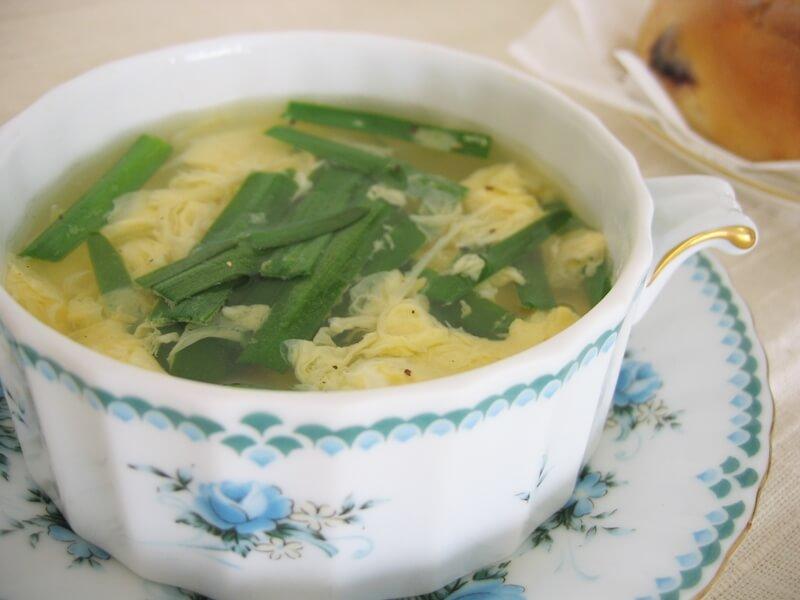 ニラ玉スープレシピ